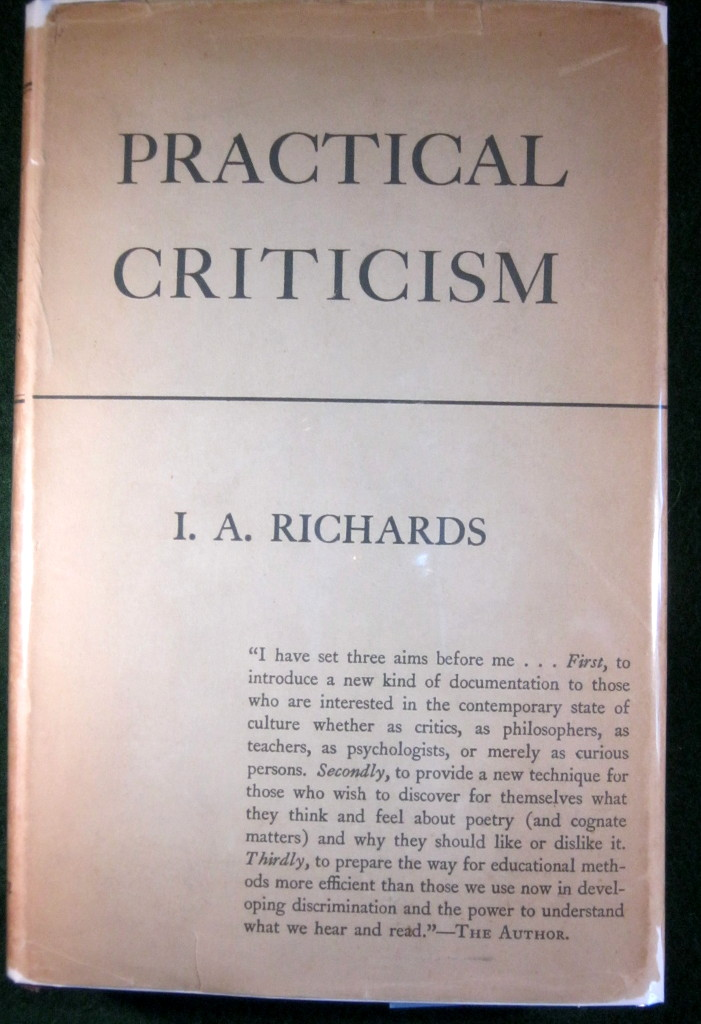 Image for PRACTICAL CRITICISM