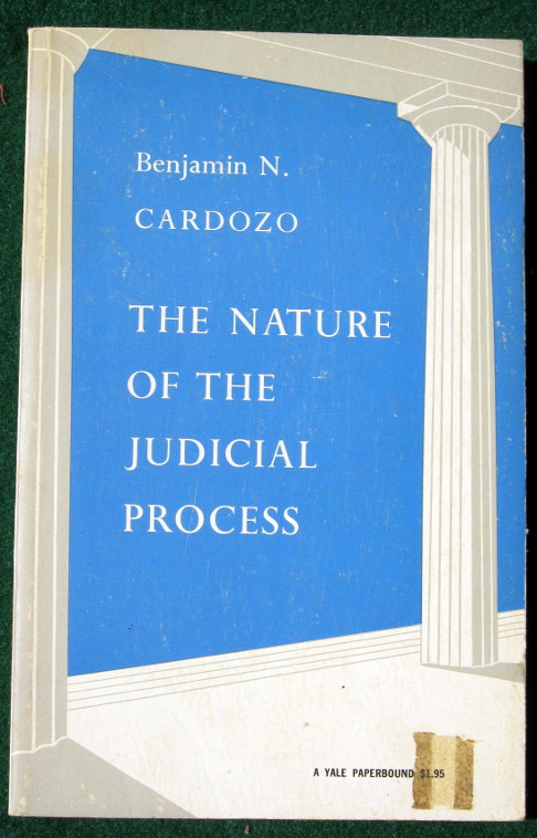 Image for THE NATURE OF THE JUDICIAL PROCESS (THE STORRS LECTURES SERIES)