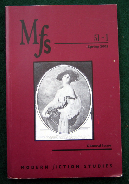 Image for MFS MODERN FICTION STUDIES: GENERAL ISSUE, VOLUME 51-1, SPRING 2005