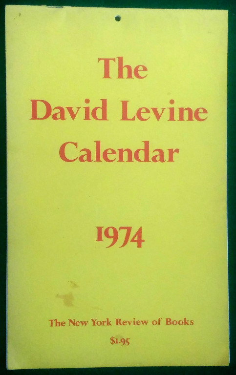 Image for THE DAVID LEVINE CALENDAR 1974