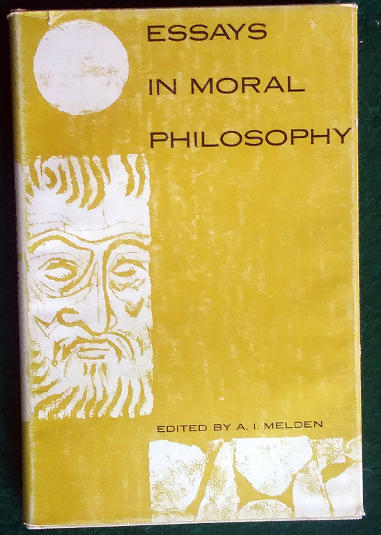 Image for ESSAYS IN MORAL PHILOSOPHY