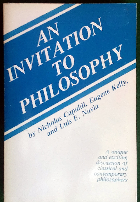Image for AN INVITATION TO PHILOSOPHY