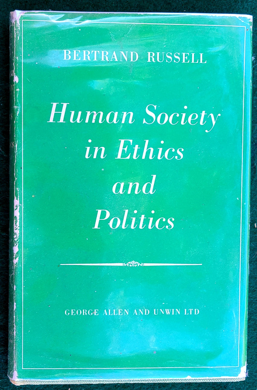 Image for HUMAN SOCIETY IN ETHICS AND POLITICS